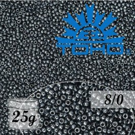Toho Rokajl 8/0 Metallic Hematite č.81 25g
