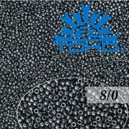 Toho Rokajl 8/0 Metallic Hematite č.81 10g