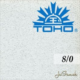 Toho Rokajl 8/0 Transparent frosted crystal 10g (č.1F)