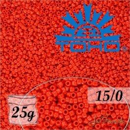 Toho Rokajl 15/0 Opaque Cherry 25g (č.45A)