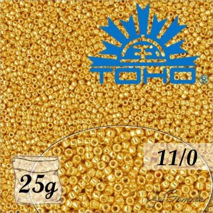 Toho Rokajl 11/0 - PermaFinish - Matte Galvanized Starlight č.PF557F 25g