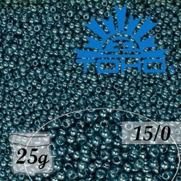 Toho Rokajl 15/0 Transparent-Lustered Teal, 25g (č.108BD)