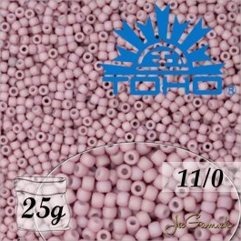 Toho Rokajl 11/0 - Opaque-Pastel-Frosted Plumeria č.765 25g