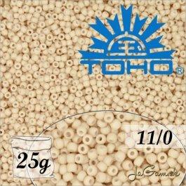 Toho Rokajl 11/0 - Opaque-Pastel-Frosted Apricot č.763 25g