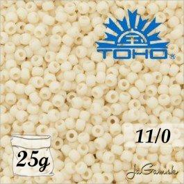 Toho Rokajl 11/0 - Opaque-Frosted Lt Beige č.51F 25g