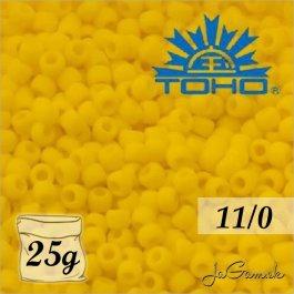 Toho Rokajl 11/0 - Opaque-Frosted Sunshine č.42BF 25g