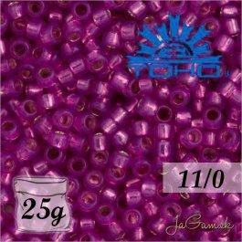Toho Rokajl 11/0 - Silver-Lined Milky Hot Pink č.2107 25g