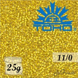 Toho Rokajl 11/0 - Inside-Color Crystal/Yellow Lined č.192 25g