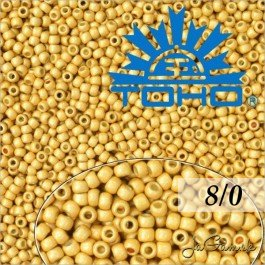 Toho Rokajl 8/0 PermaFinish - Matte Galvanized Starlight PF557F 10g