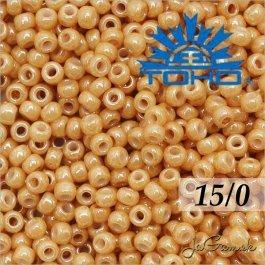 Toho Rokajl 15/0 -Opaque-Lustered Dk Beige č.123D 5g