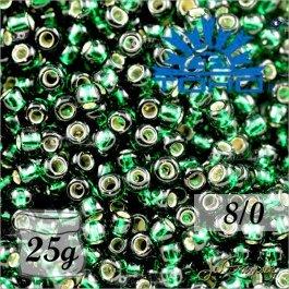 Toho Rokajl 8/0 Silver-Lined Green Emerald č.36 25g