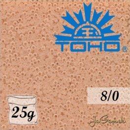 Toho Rokajl 8/0 Transparent-Frosted Rosaline č.11F 25g