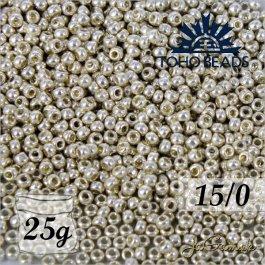 Toho Rokajl 15/0  PermaFinish - Galvanized Aluminum č.PF558 25g