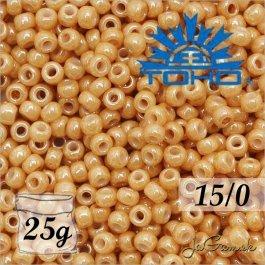 Toho Rokajl 15/0 -Opaque-Lustered Dk Beige č.123D 25g