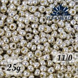 Toho Rokajl 11/0  PermaFinish - Galvanized Aluminum PF558 25g