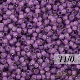Toho Rokajl 11/0 - Silver-Lined Milky Amethyst č.2108 8g