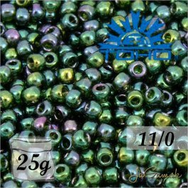 Toho Rokajl 11/0 - Gold-Lustered Emerald č.322 25g