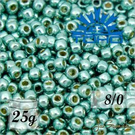 Toho Rokajl 8/0 - PermaFinish - Galvanized Green Teal č.PF561 25g