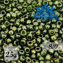 Toho Rokajl 8/0 - Gold-Lustered Fern č.333 25g
