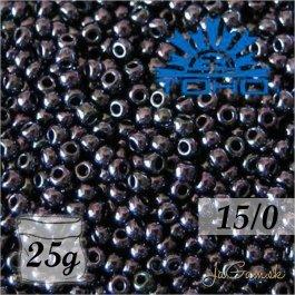 Toho Rokajl 15/0 - Metallic Amethyst Gun Metal č.90 25g
