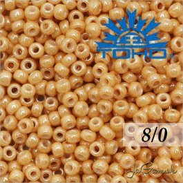Toho Rokajl 8/0 Opaque-Lustered Dk Biege č.123D 10g