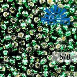 Toho Rokajl 8/0 Silver-Lined Green Emerald č.36 10g