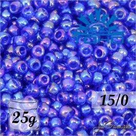 Toho Rokajl 15/0 - Transparent-Rainbow Cobalt (č.87) 25g