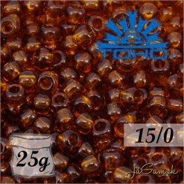 Toho Rokajl 15/0 - Transparent Smoky Topaz (č.941) 25g