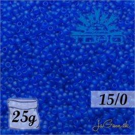 Toho Rokajl 15/0- Transparent-Frosted Dk Sapphire (č.8F) 25g