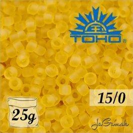Toho Rokajl 15/0 -Transparent-Frosted Lt Topaz (č.2F) 25g