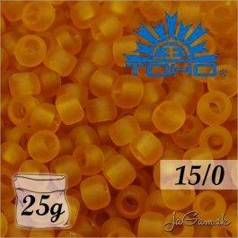 Toho Rokajl 15/0 -Transparent-Frosted Dk Topaz (č.2CF) 25g