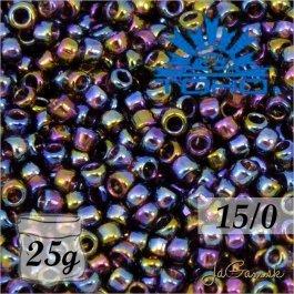 Toho Rokajl 15/0 -Transparent-Rainbow Amethyst (č.166C) 25g