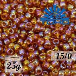 Toho Rokajl 15/0 -Transparent-Rainbow Topaz (č.162C) 25g