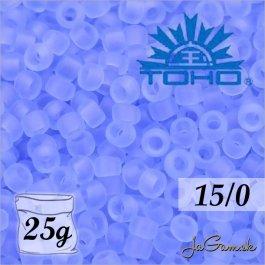 Toho Rokajl 15/0 -Transparent-Frosted Lt Sapphire (č.13F) 25g