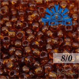 Toho Rokajl 8/0 - Transparent Smoky Topaz (č.941) 10g