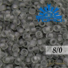 Toho Rokajl 8/0 - Transparent-Frosted Lt Gray (č.9F) 10g