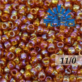 Toho Rokajl 11/0 -Transparent-Rainbow Topaz (č.162C) 8g