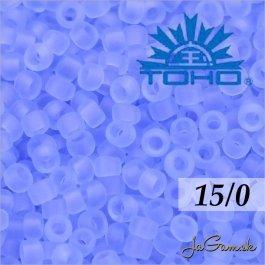 Toho Rokajl 15/0 -Transparent-Frosted Lt Sapphire (č.13F) 5g