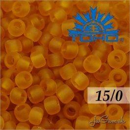 Toho Rokajl 15/0 -Transparent-Frosted Dk Topaz (č.2CF) 5g