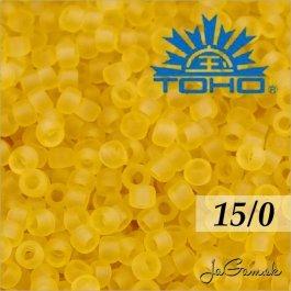 Toho Rokajl 15/0 -Transparent-Frosted Lt Topaz (č.2F) 5g