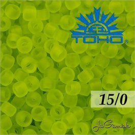 Toho Rokajl 15/0 -Transparent-Frosted Lime Green (č.4F) 5g
