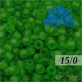 Toho Rokajl 15/0 - Transparent-Frosted Peridot (č.7F) 5g