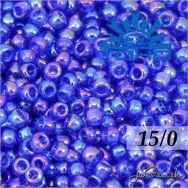 Toho Rokajl 15/0 - Transparent-Rainbow Cobalt (č.87) 5g
