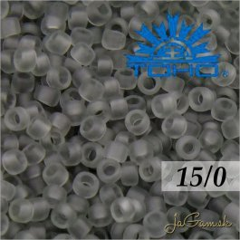 Toho Rokajl 15/0 - Transparent-Frosted Lt Gray (č.9F) 5g