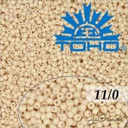 Toho Rokajl 11/0 - Opaque-Pastel-Frosted Apricot č.763 8g