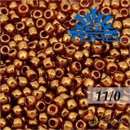 Toho Rokajl 11/0 - Gold-Lustered African Sunset č.329 8g
