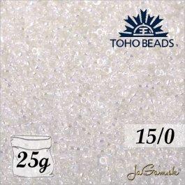 Toho Rokajl 15/0 Trans-Rainbow Crystal č.161 25g