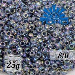 Toho Rokajl 8/0 Inside-Color Rainbow Crystal/Montana Blue-Lined č.8 25g