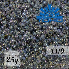 Toho Rokajl 15/0 Inside-Color Rainbow Crystal/Montana Blue-Lined č.773 25g