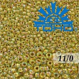 Toho Rokajl 11/0 - Gold-Lined Rainbow Lt Jonquil č.998 8g